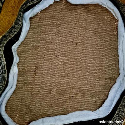 Pochette coton tissé main écru et indigo by Asiantoutim