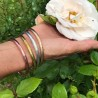 Jonc Bouddhiste Mantra doré clair large amulette by Asiantoutim Qualité premium