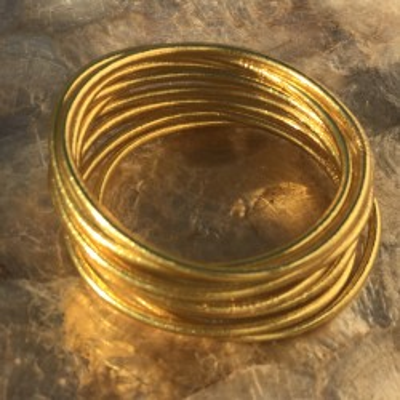 3 joncs bouddhiste fin Gold, bracelets de temple amulette by Asiantoutim. Qualité premium