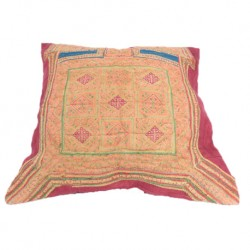 Housse coussin tissu Hmong