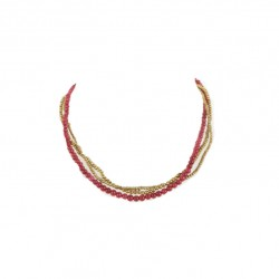 Collier perles de calcedoine