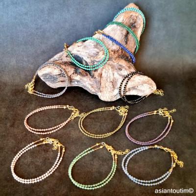 Boucles d'oreilles pierres naturelles Thani