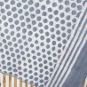 Etole block print rayures argile